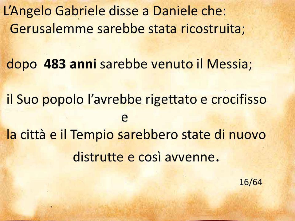 16/64 L'Angelo Gabriele disse a Daniele che: