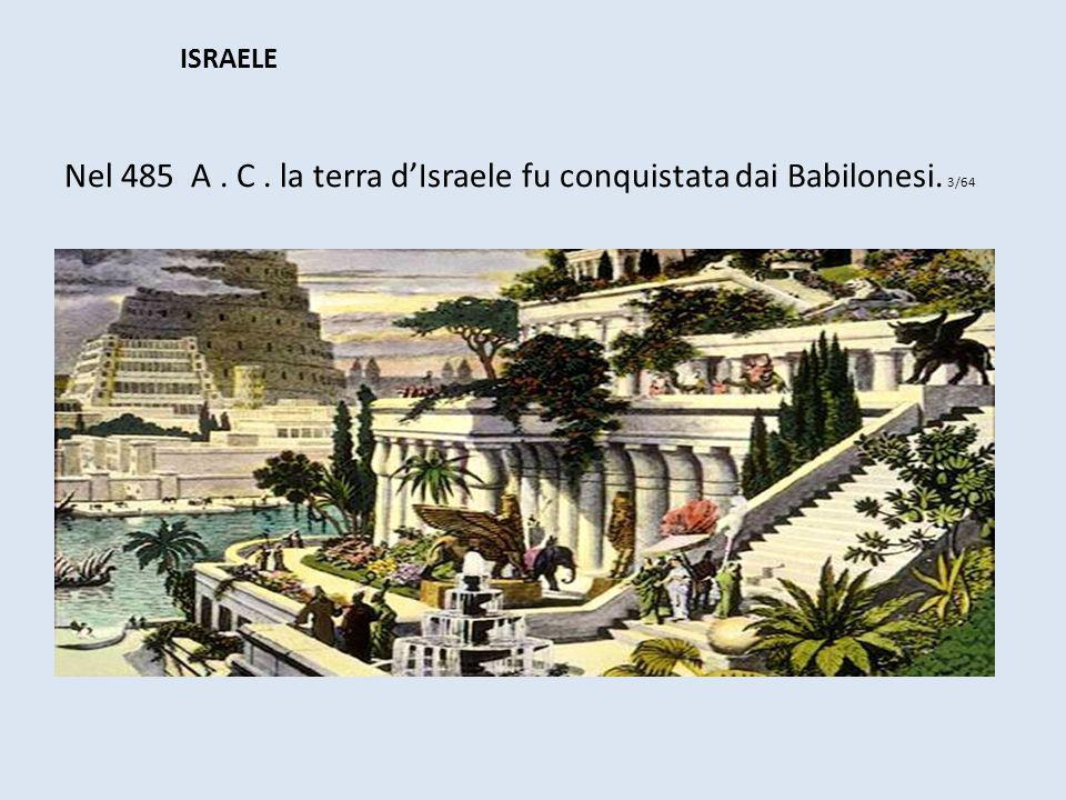 Nel 485 A . C . la terra d'Israele fu conquistata dai Babilonesi. 3/64