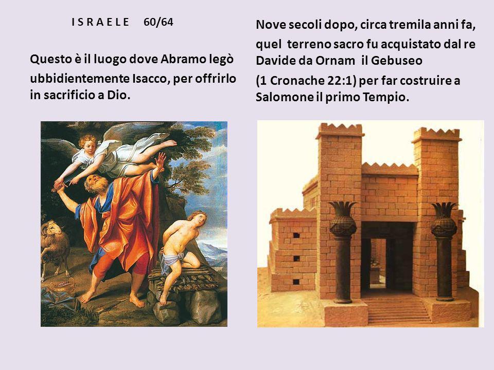 Nove secoli dopo, circa tremila anni fa,
