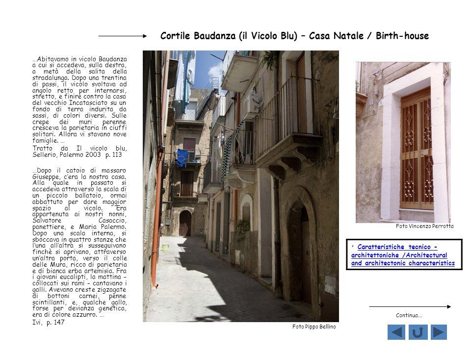 Cortile Baudanza (il Vicolo Blu) – Casa Natale / Birth-house