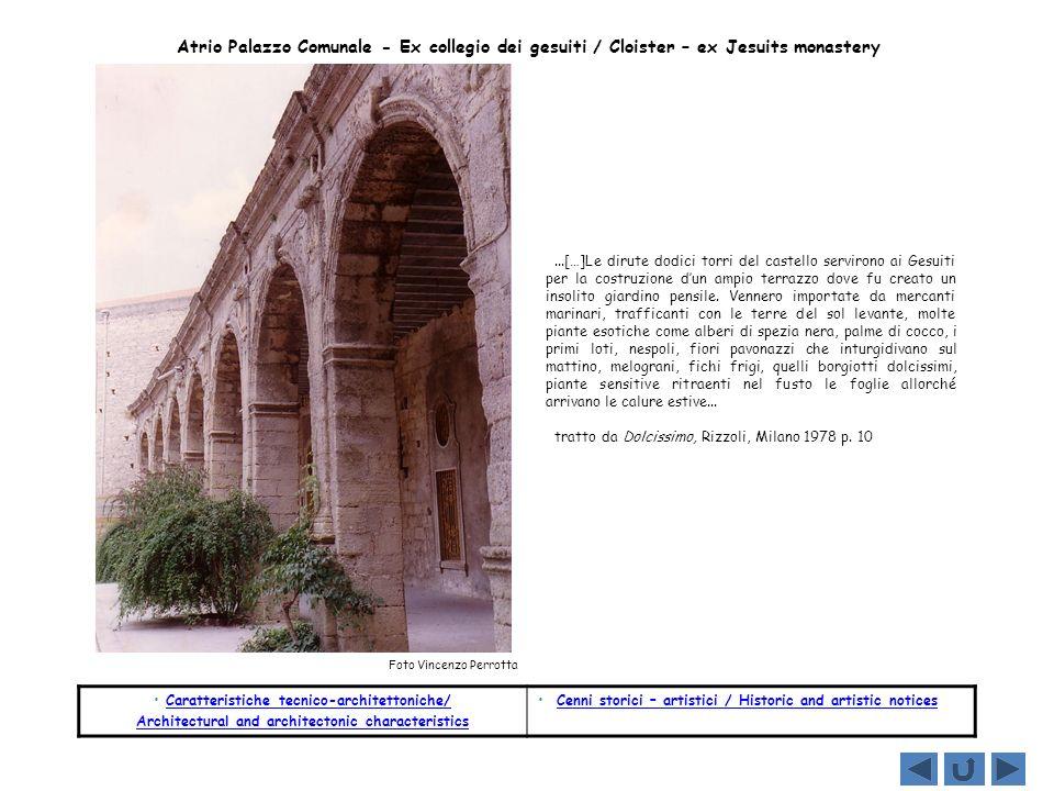 Caratteristiche tecnico-architettoniche/