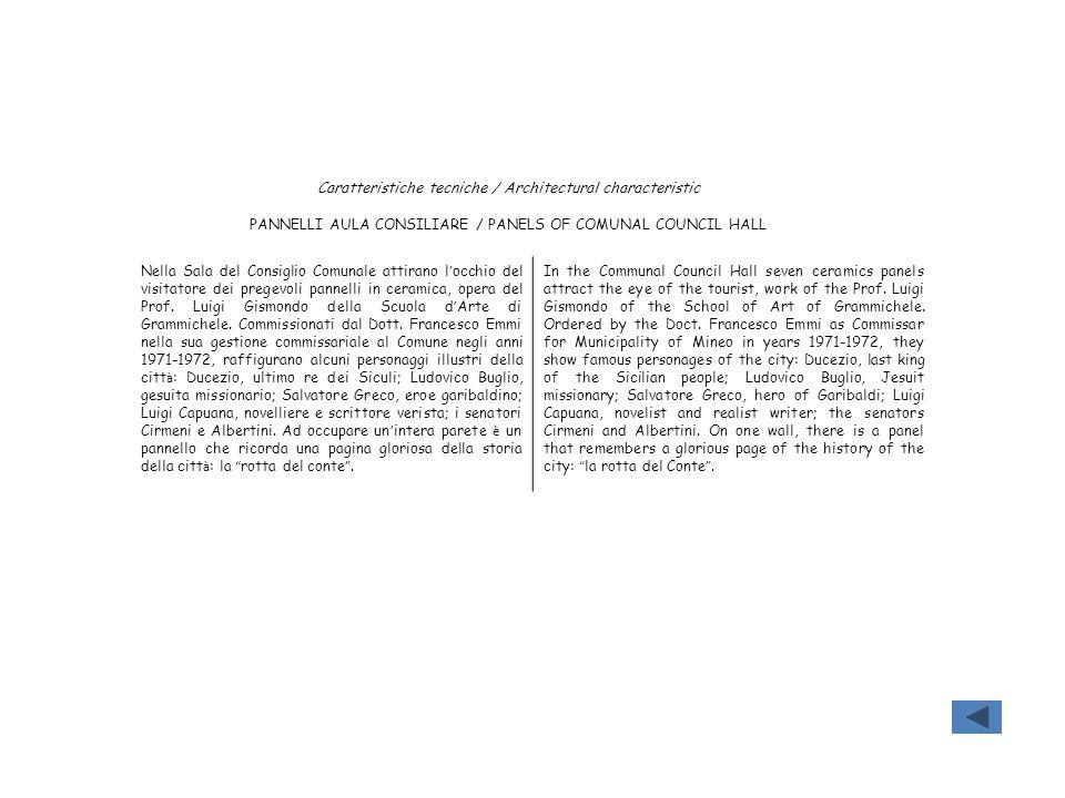 Caratteristiche tecniche / Architectural characteristic
