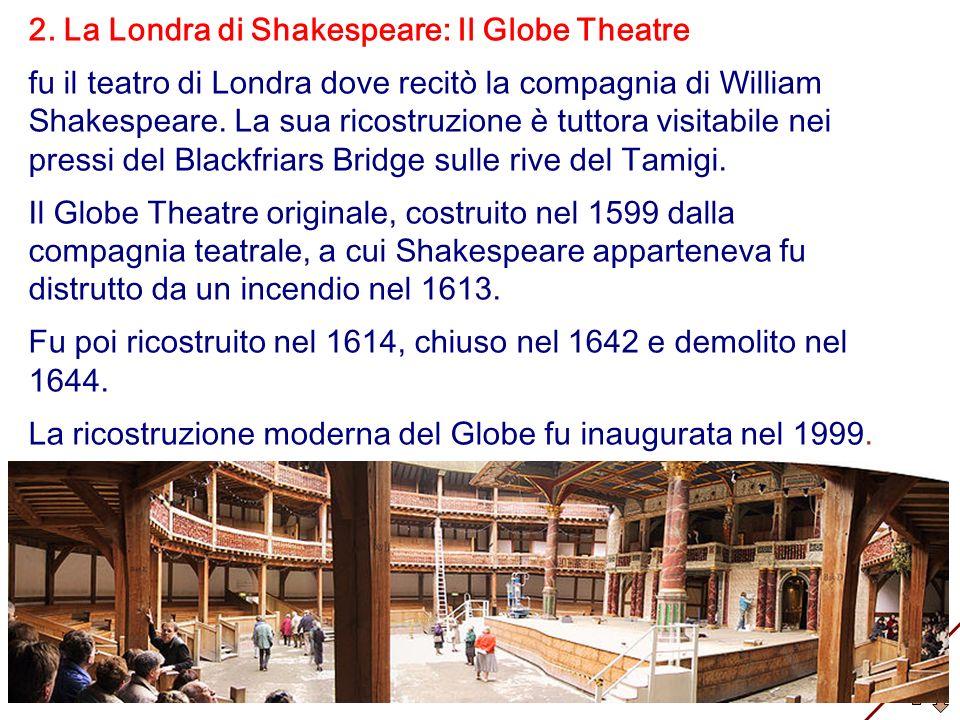 2. La Londra di Shakespeare: Il Globe Theatre