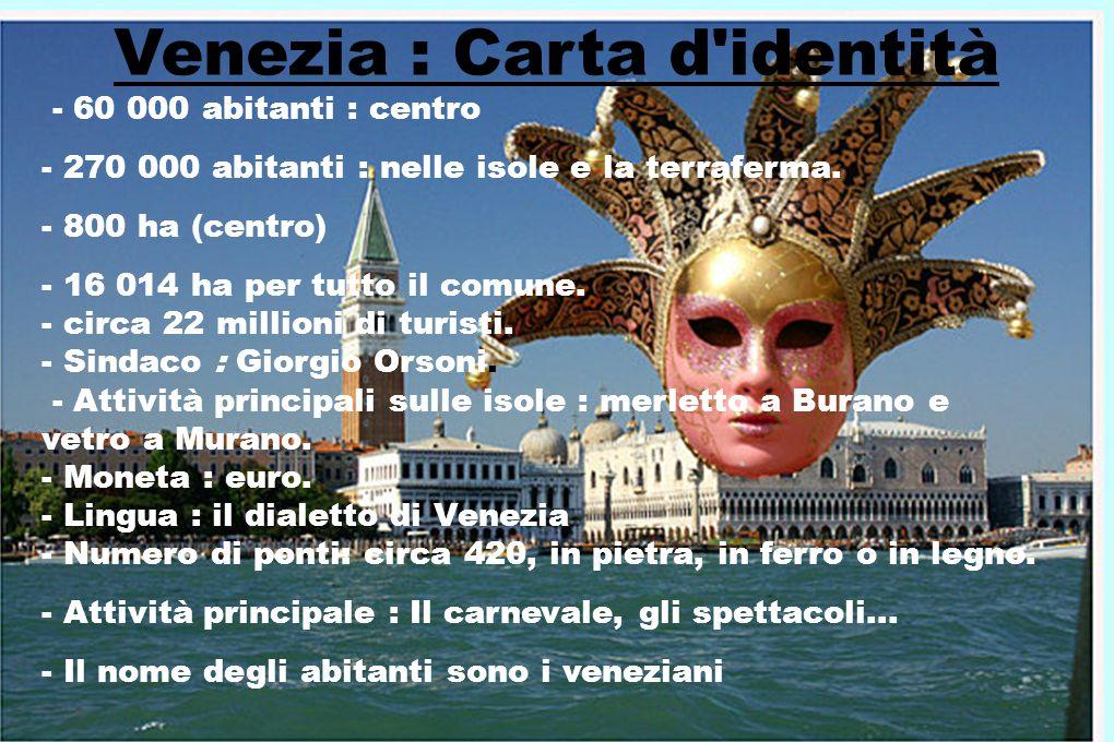 Venezia : Carta d identità