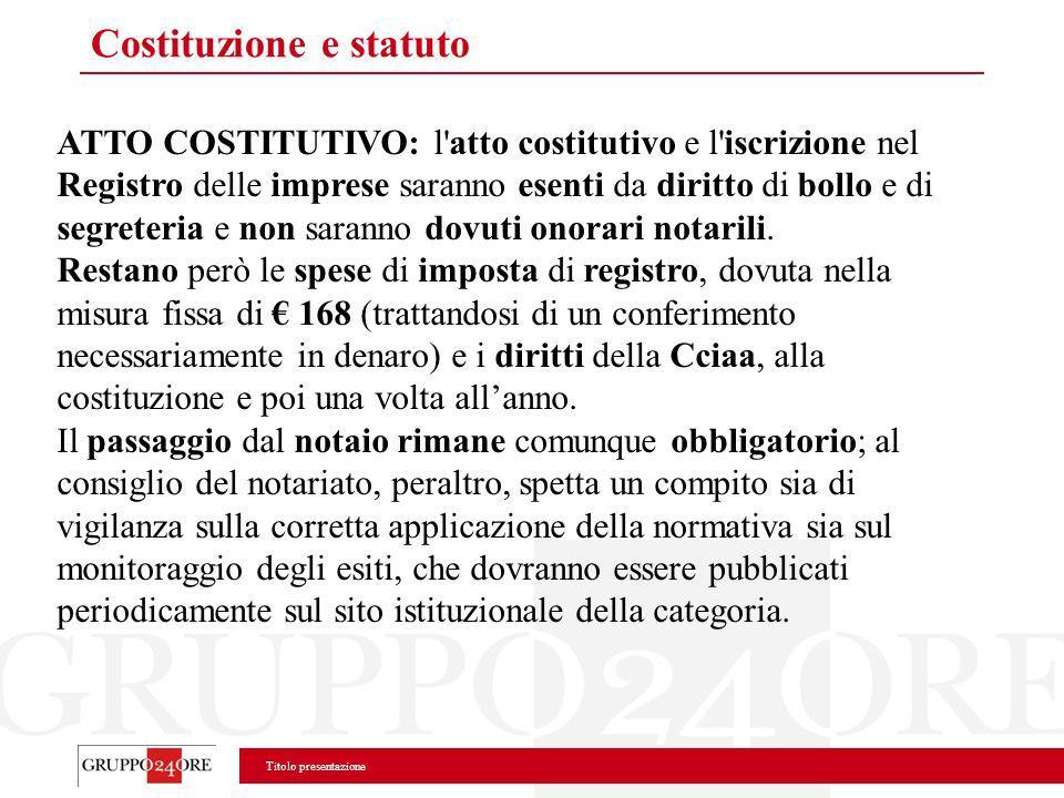 Costituzione e statuto