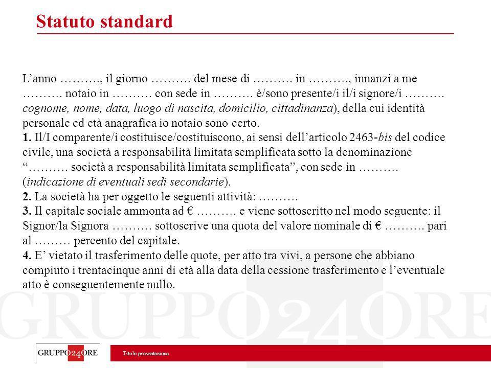 Statuto standard