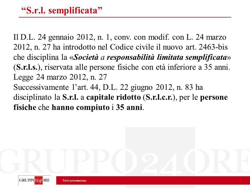 S.r.l. semplificata