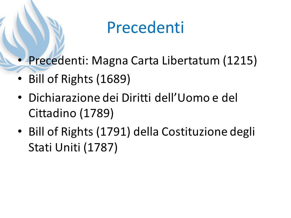 Precedenti Precedenti: Magna Carta Libertatum (1215)
