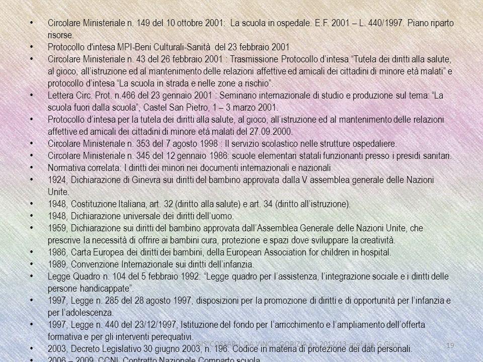 ISIS COSSAR-L.DA VINCI -GORIZIA a.s.2012/13-prof.ssa G.Giani