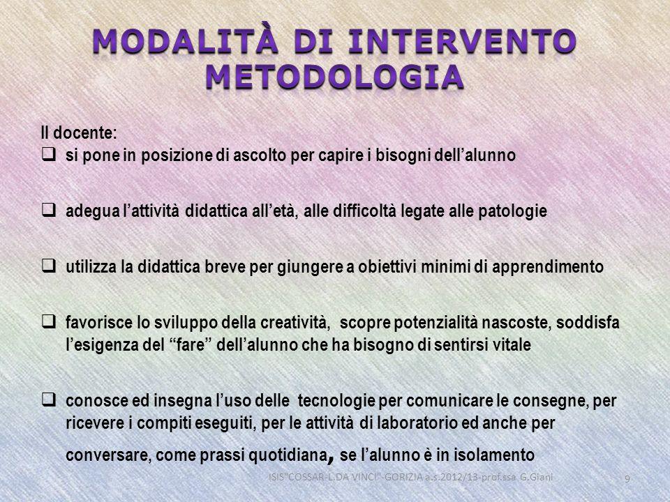 Modalità di intervento metodologia