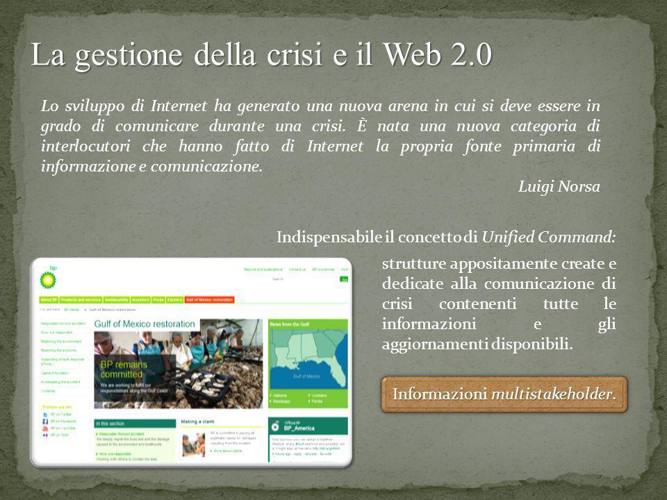 La gestione della crisi e il Web 2.0