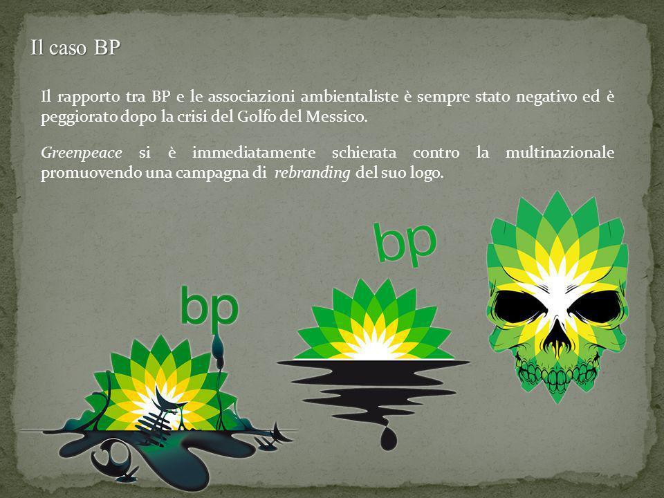Il caso BP Il rapporto tra BP e le associazioni ambientaliste è sempre stato negativo ed è peggiorato dopo la crisi del Golfo del Messico.
