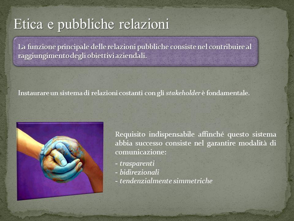 Etica e pubbliche relazioni