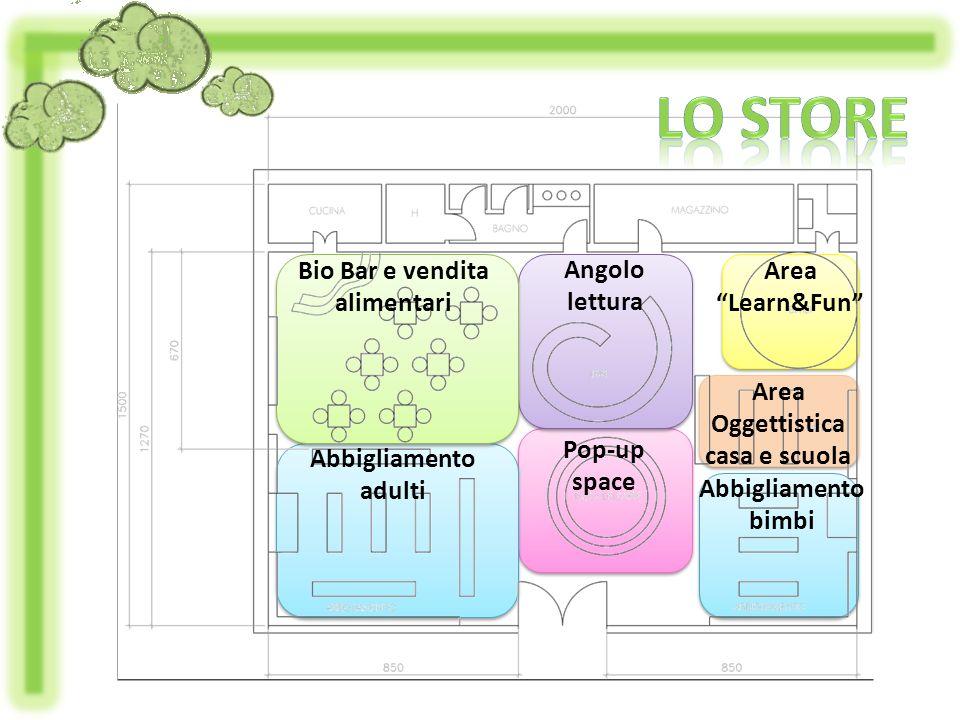 Bio Bar e vendita alimentari Oggettistica casa e scuola