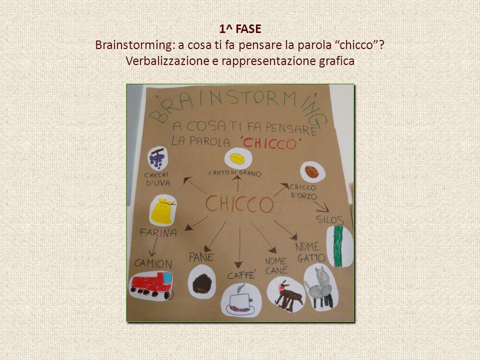 1^ FASE Brainstorming: a cosa ti fa pensare la parola chicco