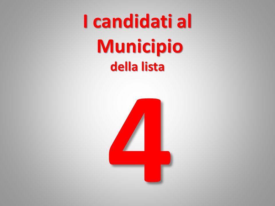 I candidati al Municipio della lista