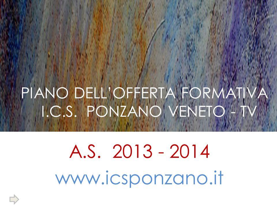 PIANO DELL'OFFERTA FORMATIVA I.C.S. PONZANO VENETO - TV