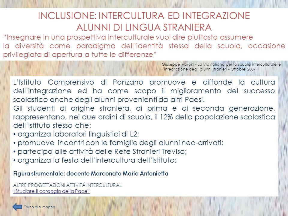 INCLUSIONE: INTERCULTURA ED INTEGRAZIONE ALUNNI DI LINGUA STRANIERA