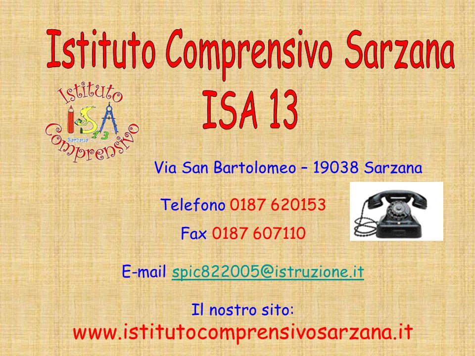 Istituto Comprensivo Sarzana ISA 13