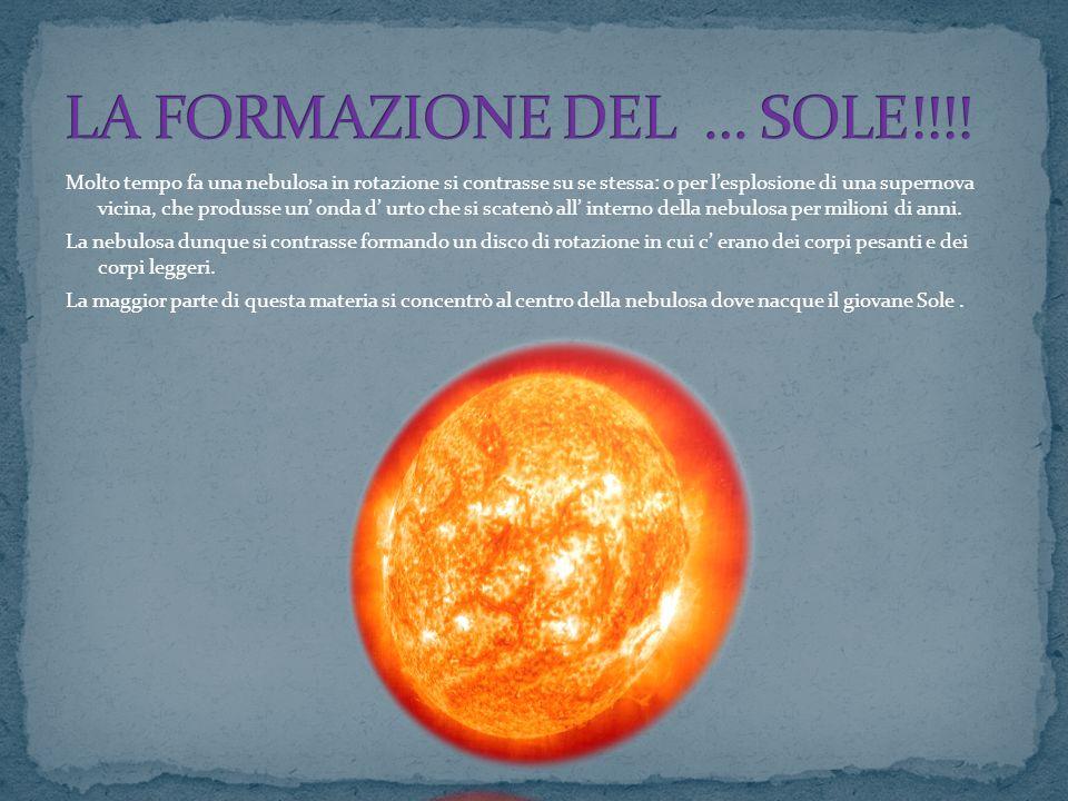 LA FORMAZIONE DEL … SOLE!!!!