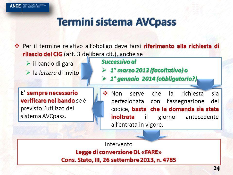 Termini sistema AVCpass