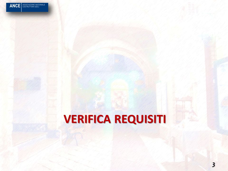VERIFICA REQUISITI