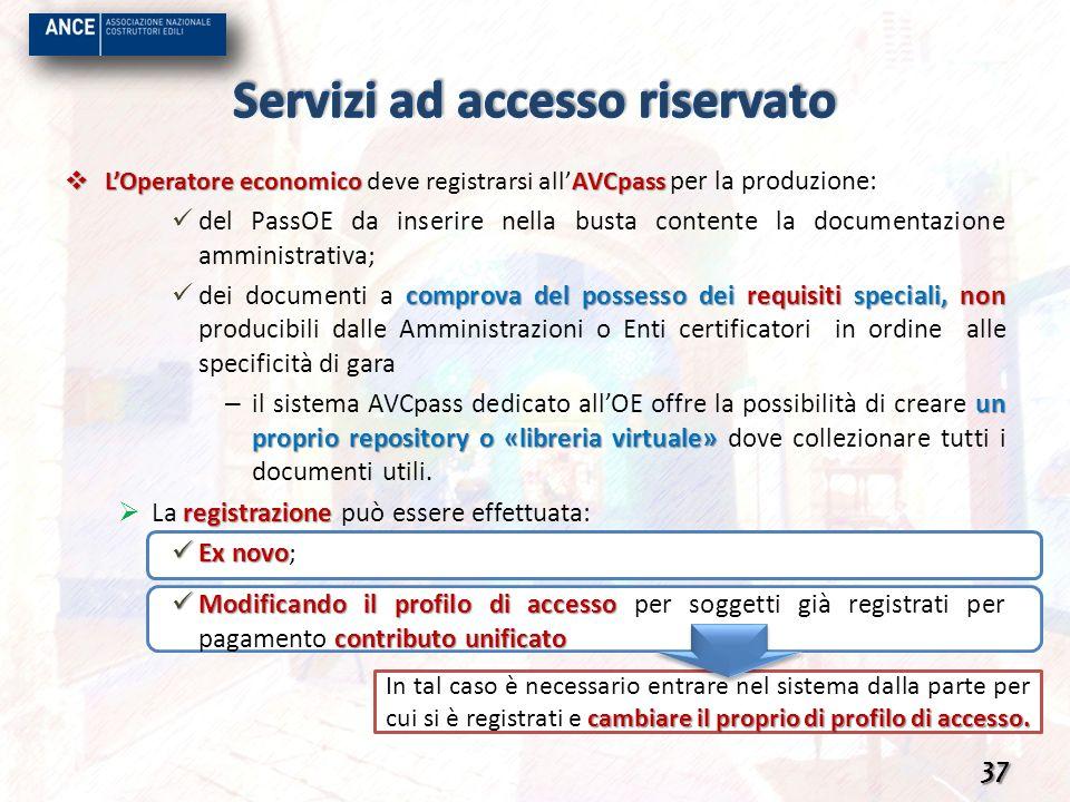 Servizi ad accesso riservato