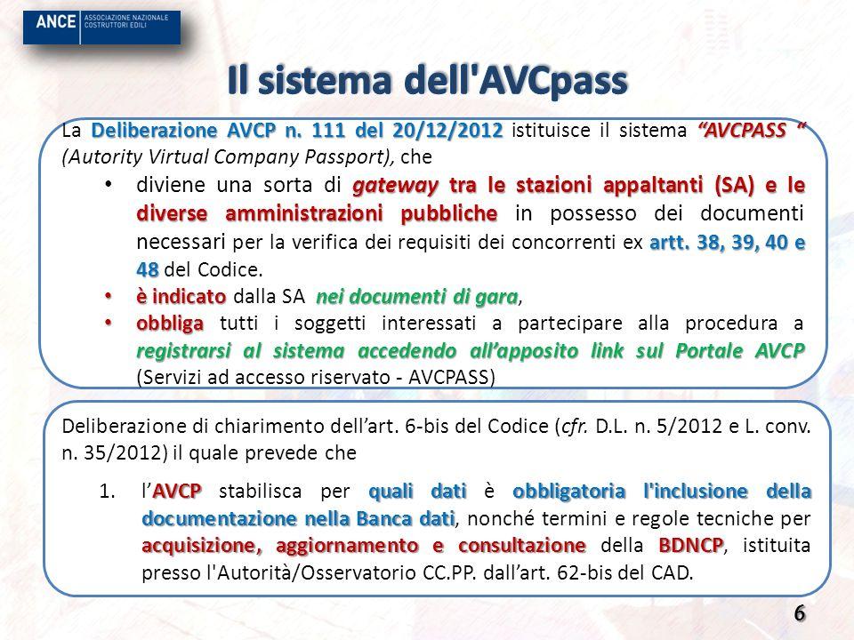 Il sistema dell AVCpass
