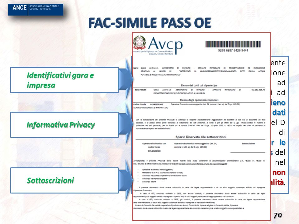 FAC-SIMILE PASS OE