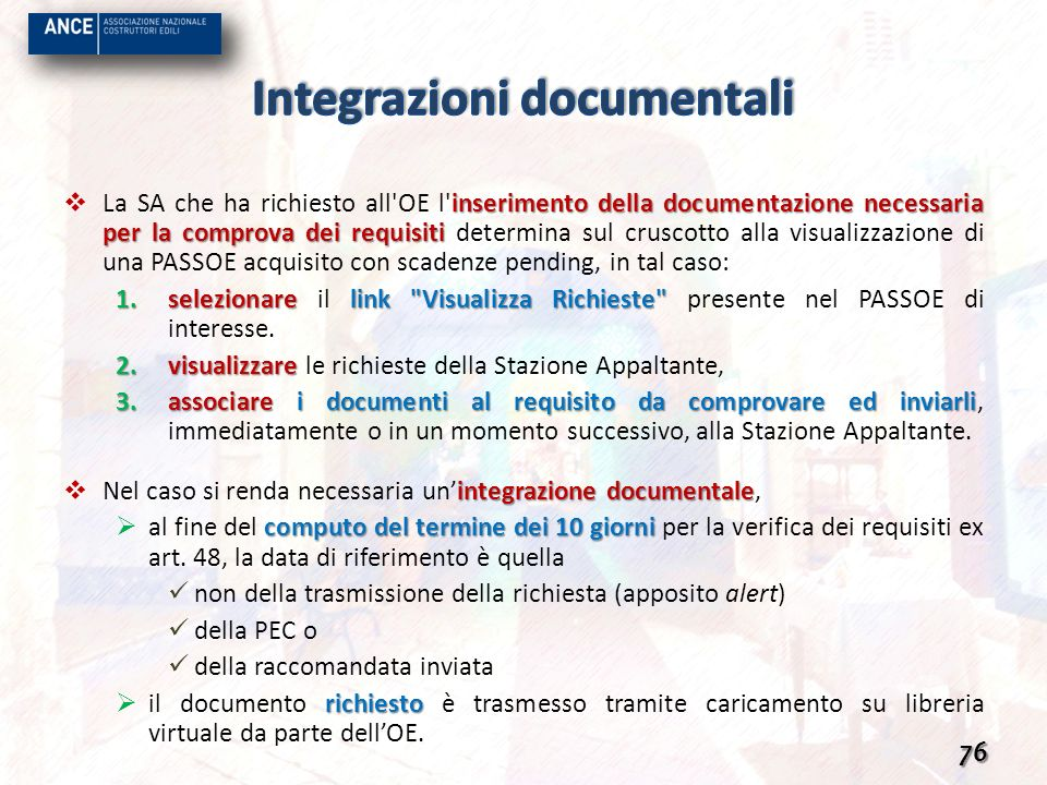 Integrazioni documentali