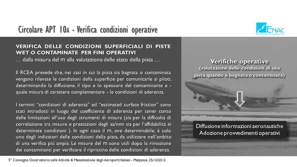 Circolare APT 10A - Verifica condizioni operative