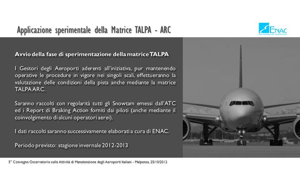 Applicazione sperimentale della Matrice TALPA - ARC