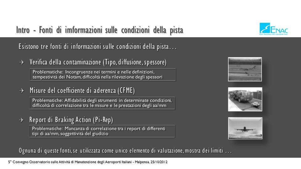 Intro - Fonti di imformazioni sulle condizioni della pista