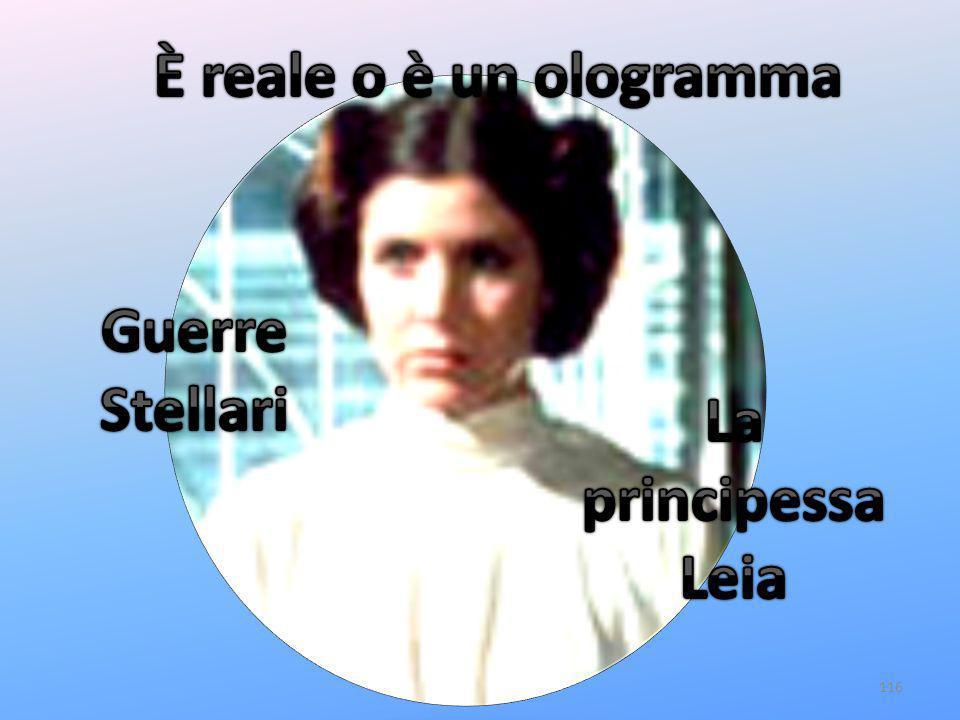 È reale o è un ologramma Guerre Stellari La principessa Leia