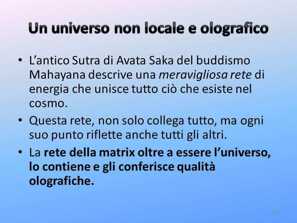 Un universo non locale e olografico