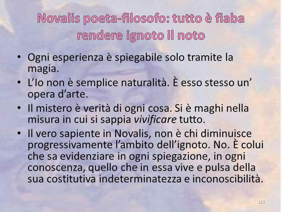 Novalis poeta-filosofo: tutto è fiaba rendere ignoto il noto