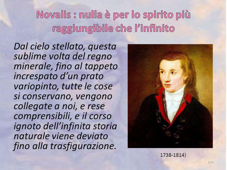 Novalis : nulla è per lo spirito più raggiungibile che l'infinito