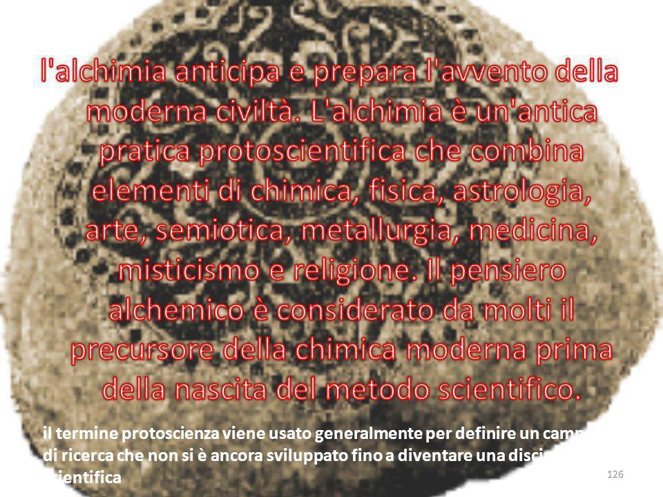 l alchimia anticipa e prepara l avvento della moderna civiltà