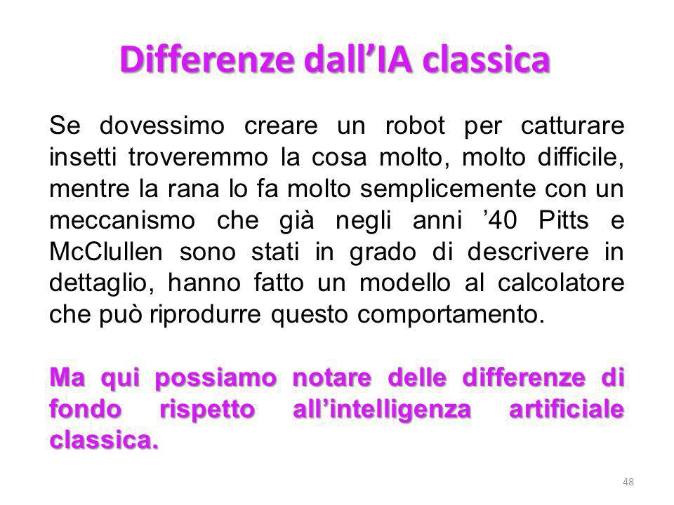 Differenze dall'IA classica