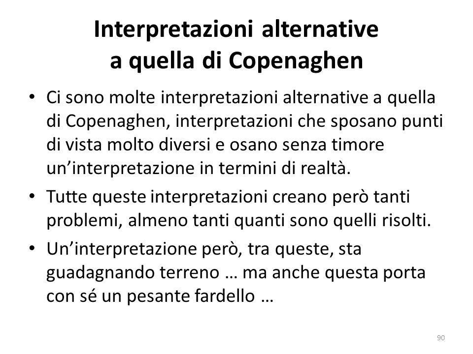 Interpretazioni alternative a quella di Copenaghen