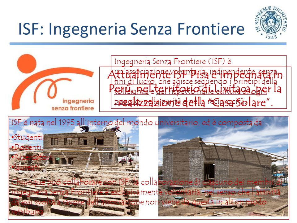ISF: Ingegneria Senza Frontiere