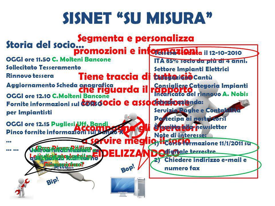 SISNET SU MISURA Segmenta e personalizza promozioni e informazioni