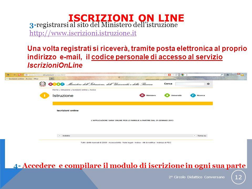 ISCRIZIONI ON LINE 3-registrarsi al sito del Ministero dell'istruzione