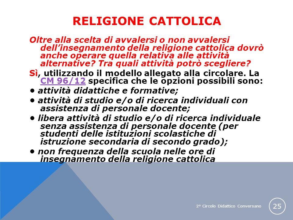 RELIGIONE CATTOLICA
