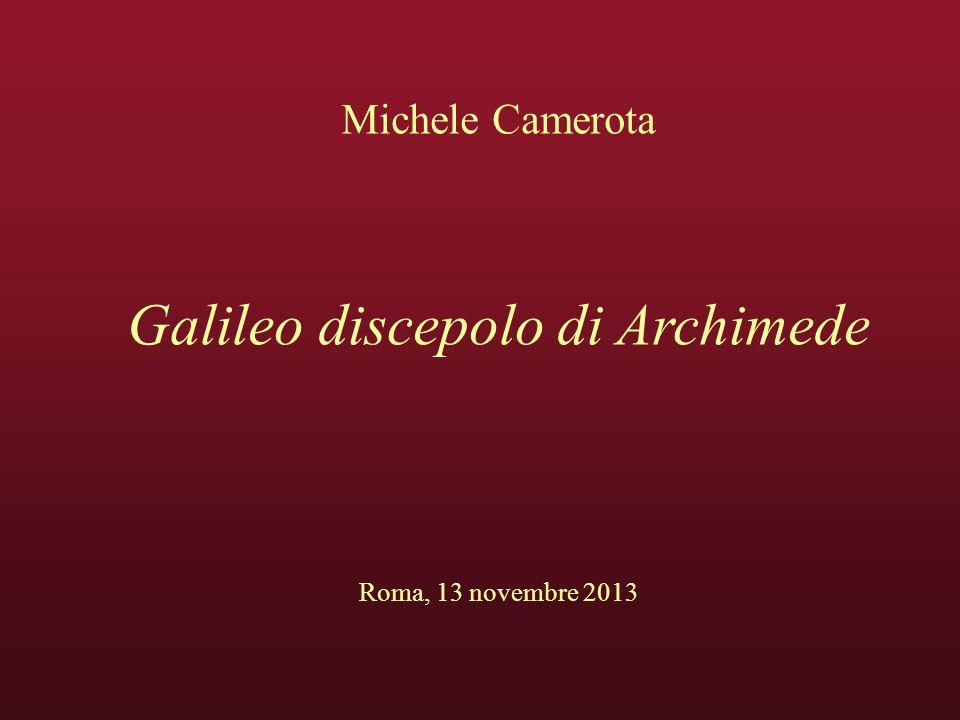 Galileo discepolo di Archimede