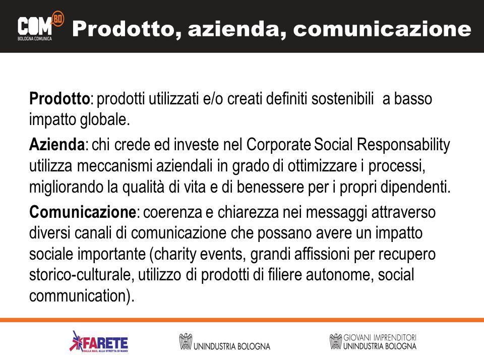 Prodotto, azienda, comunicazione