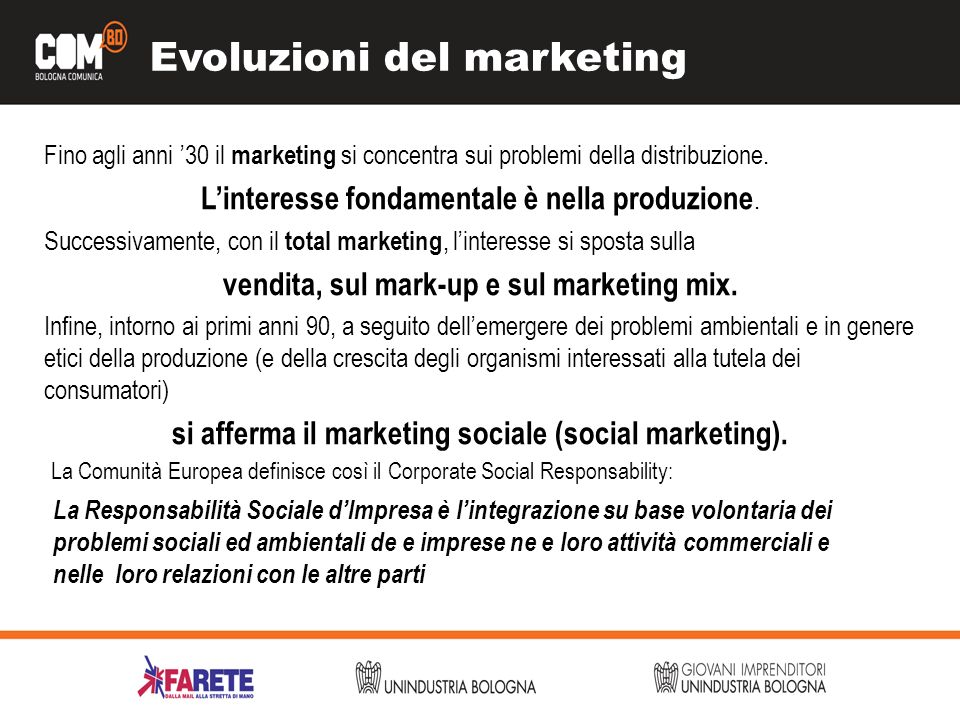 Evoluzioni del marketing