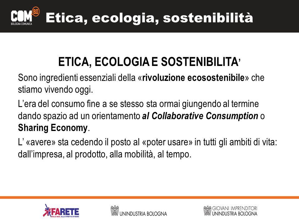 Etica, ecologia, sostenibilità