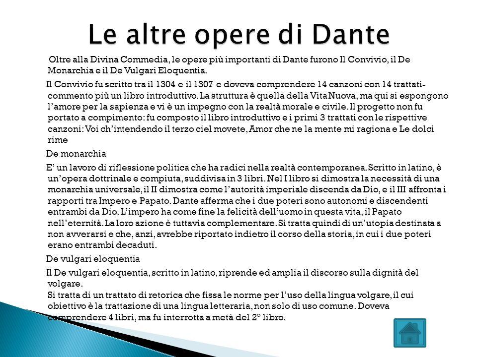 Le altre opere di Dante