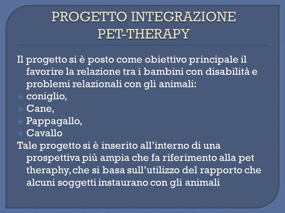 PROGETTO INTEGRAZIONE PET-THERAPY